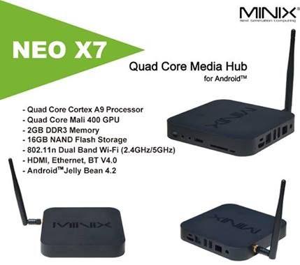 MINIX Neo X7 Brought to you by Amconics Technology, Local Authorized MINIX Distributor, www.myonlinemediaplayer.com