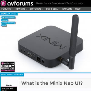 Minix u1 android box review by avforums
