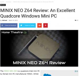 minix neo z64 review by hometheatrelife